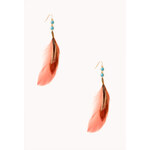 Forever 21 Free Spirit Feather Earrings