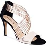 Gino Rossi - Sandály na podpatku - zlatá, 37 - 200 Kč na první nákup za odběr newsletteru