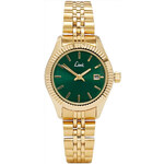 Topshop **Limit Green and Gold Bracelet Watch