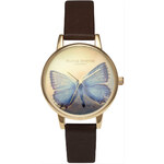 Topshop **Olivia Burton Woodland Chocolate Midi Butterfly Watch