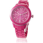 Esprit stainless steel watch in satined raspberry