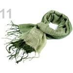 Stoklasa stok_690472 Šála 60x150cm duhovaná imitace fáčoviny (1 ks) - 11 zelená ledově