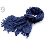 Stoklasa stok_700878 Šála 75x170-180cm jednobarevná imitace fáčoviny (1 ks) - 9 modrá pařížská
