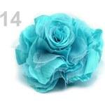 Stoklasa stok_100965 Brož Ø 90mm růže (1 ks) - 14 tyrkysová