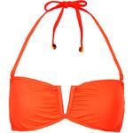 Topshop Flame Orange V Bandeau Bikini Top