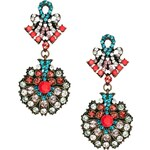 Nali Rhinestone Drop Earrings With Bow Detail
