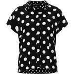 Topshop Mix Scale Spot Shirt