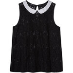 Tally Weijl Black Lace Swing Top with Collar