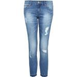 Tally Weijl Blue Destroyed Boyfriend Fit Jeans