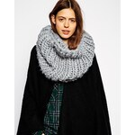 ASOS Chunky Hand Knit Funnel Snood - Grey