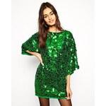 ASOS Premium Sequin Mini Dress - Green