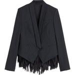 Brunello Cucinelli Wool-Blend Blazer with Fringe