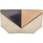 Roland Mouret Color-Block Leather Clutch