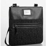 Calvin Klein logo jacquard crossbody flat pack - black