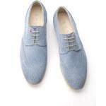 Pánská kožená obuv Blažek Jeans , barva modrá