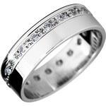 Brilio Snubní prsten z bílého zlata se zirkony 222 001 00316 97 48 mm