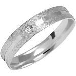 Brilio Snubní prsten z bílého zlata s diamantem 222 001 00328 17 48 mm