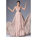 MiaBella Jemné plesové šaty zdobené kamínky Barva: jako na obrázku, Velikost: XS = konfekční velikost 34