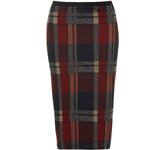 Topshop Blanket Check Tube Skirt