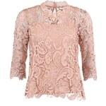 Pudrově růžový krajkový top Vero Moda Pronenza