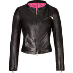 Dsquared2 Fitted Leather Jacket