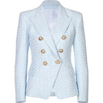 Balmain Double-Breasted Brocade Blazer
