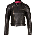 Dsquared2 Cropped Leather Motorcycle Jacket
