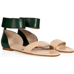 Chloé Leather Two-Tone Sandals