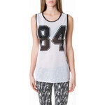 "Tally Weijl Monochrome Sheer ""84"" Varsity Top"