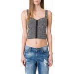 Tally Weijl Monochrome Patterned Crop Top