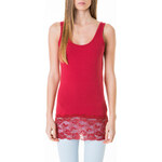 Tally Weijl Red Lace Hem Vest Top