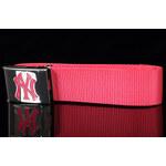 MD MLB Premium Woven Belt Single NY tmavě růžový