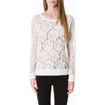 Tally Weijl Cream Large Floral Lace Top
