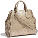 GUESS zlatá kabelka Wild child retro satchel