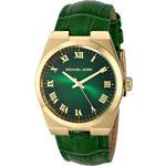 Zelené kožené hodinky Michael Kors MK2356