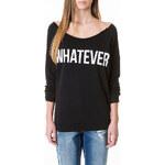 "Tally Weijl Black ""Whatever"" Print Raw Sweater"