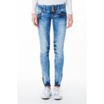 Tally Weijl Blue Bleached Skinny Jeans