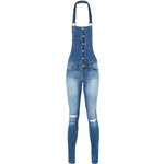 Tally Weijl Blue Destroyed Jean Dungarees