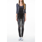 Tally Weijl Grey Destroyed Jean Dungarees