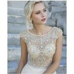luxusní svatební nebo plesové antické bílé šaty vyšívané Meira S