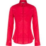 Tally Weijl Red Sheer Roll-Up Sleeve Shirt