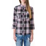 Tally Weijl Purple & Black Checked Shirt
