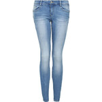 Tally Weijl Mid Blue Push Up Jeans with Ripped Knee