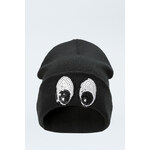 "Tally Weijl Black ""Eyes"" Sequin Beanie Hat"