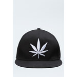 "Tally Weijl Black ""Hash"" Embroidered Snapback Hat"