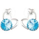 Dámské srdcové náušnice s krystalem Fifi Ange
