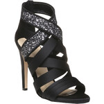 Baťa Diamond - saténové sandály na stiletto podpatku