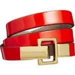 ASOS Gold Link Leather Waist Belt