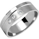 Brilio Snubní prsten z bílého zlata s diamanty 222 001 00375 17 48 mm