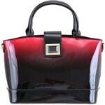 Fialovo-černá lesklá kabelka s ombré efektem LYDC